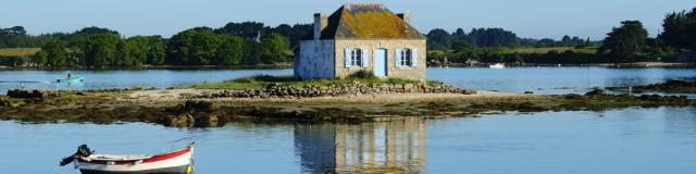 Maison de pêcheur à Saint-Cado sur la Ria d'Etel