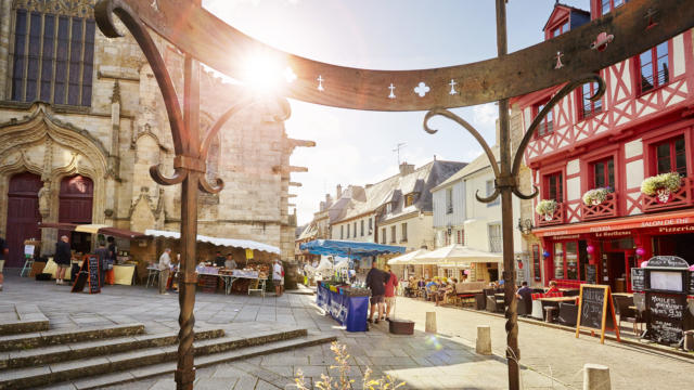Le marché à Josselin