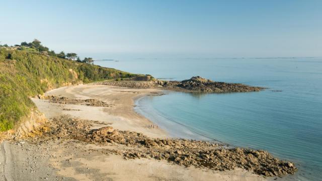 France, Côtes d'Armor (22), Binic Etables sur Mer, la plage du corps de garde