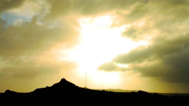 A l'aube, sur les sommets des Monts d'Arrée