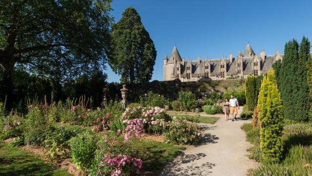 Roseraie du château de Josselin