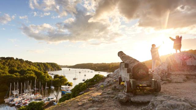 Coucher du soleil sur les hauteurs de la Roche-Bernard