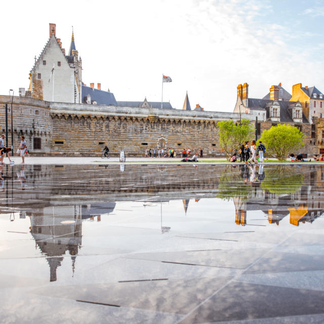Château des Ducs de Bretagne et le Miroir d'eau, Nantes