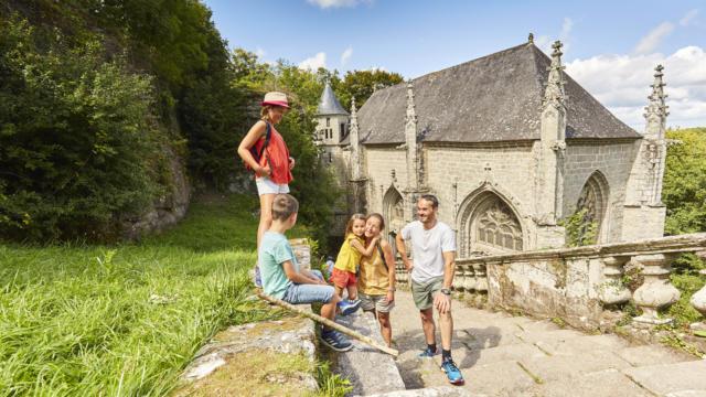 Le Pays du Roi Morvan, site de la chapelle Sainte-Barbe- Le Faouët
