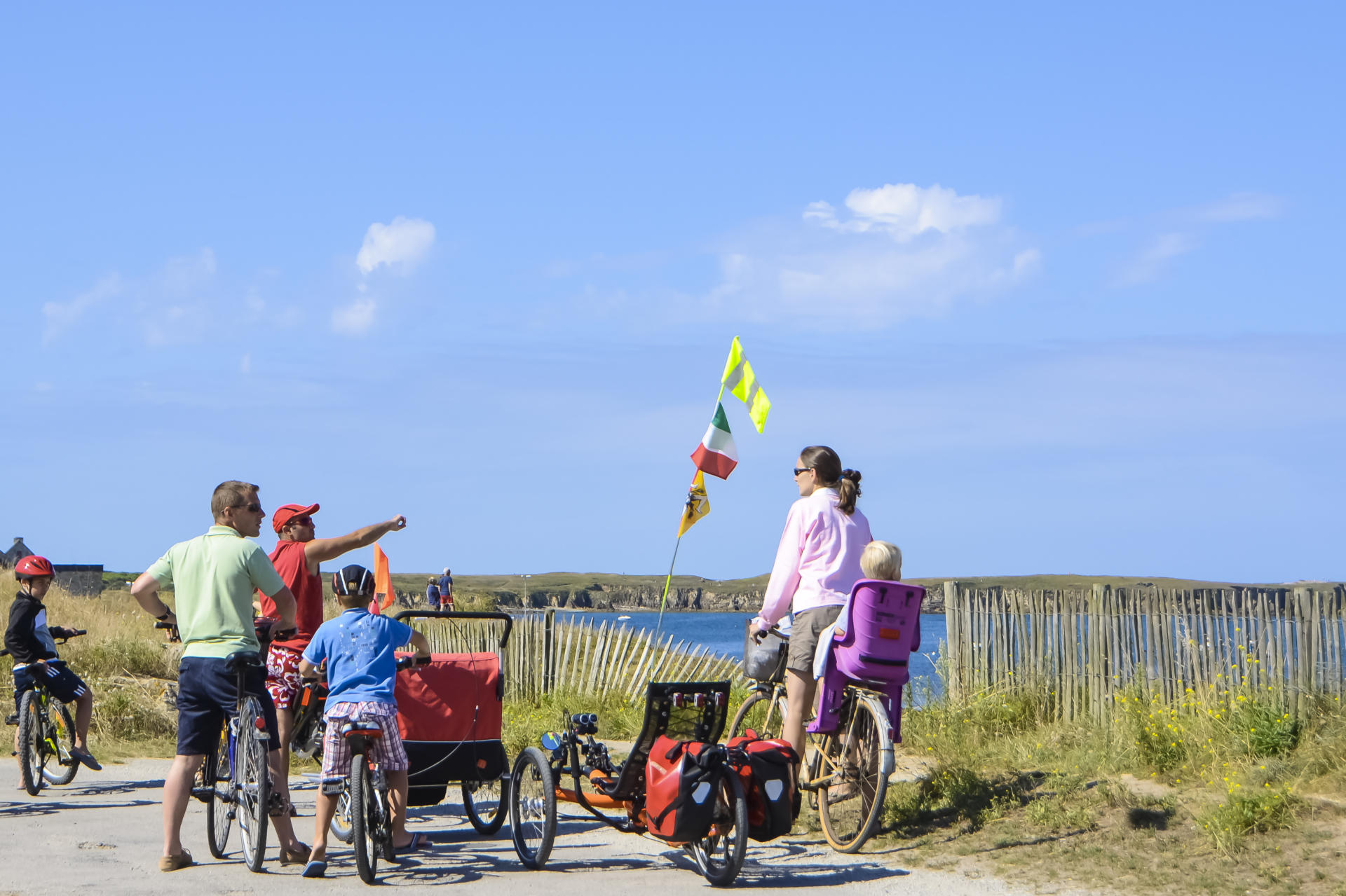 In Brittany, family holidays can also be cycling holidays