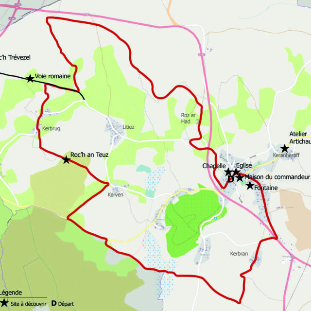La Feuillee Circuit Roch An Teuz Roche Du Fantôme
