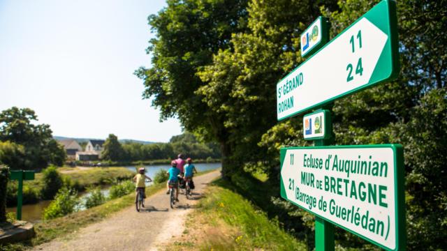 Pontivy - Voies vertes - randonnée à vélo en famille