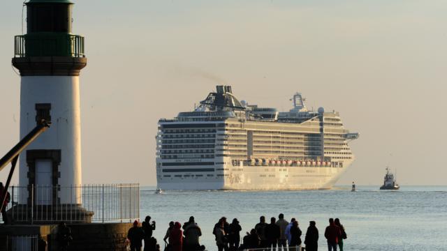 Lancement du plus grand paquebot d'Europe, le MSC PREZIOSA à Saint-Nazaire