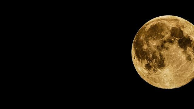 Dark full moon lunar - Planetarium de Bretagne