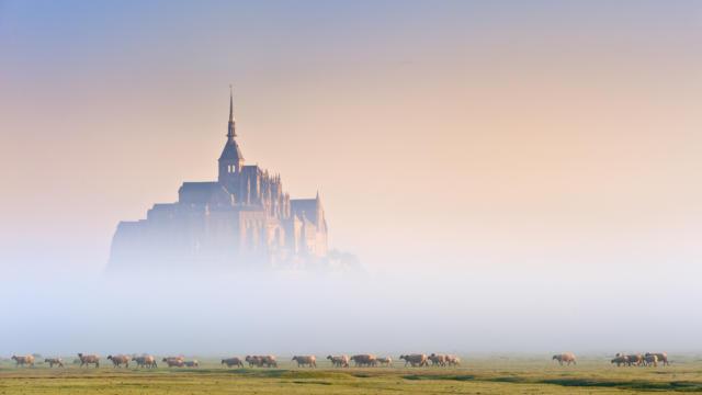 Le Mont dans la brume du matin
