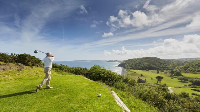 Golf du Val-André - joueur