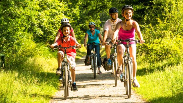Vélo sur la Voie verte 7