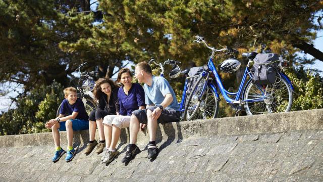 Pause vélo en famille