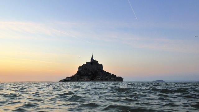 Coucher de soleil sur le Mont Saint-Michel