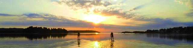 SUP au coucher du soleil - Rade de Brest