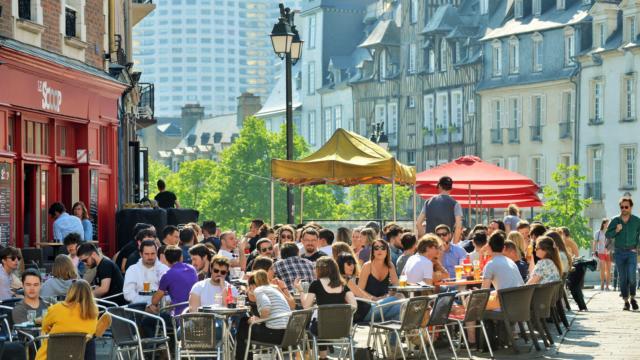 Terrasses place des Lices - Rennes