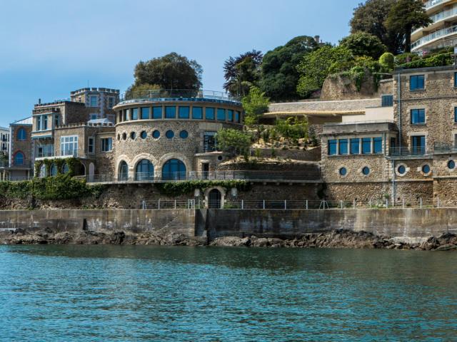 Hôtel Castelbrac vue de la mer
