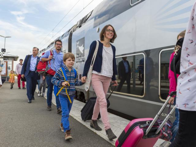 Venir en Bretagne - En train