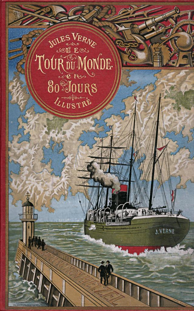Couverture - Jules Verne - Le tour du monde en 80 jours