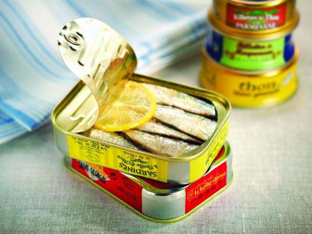 Sardines La Belle-Iloise au citron et à l'huile d'olive