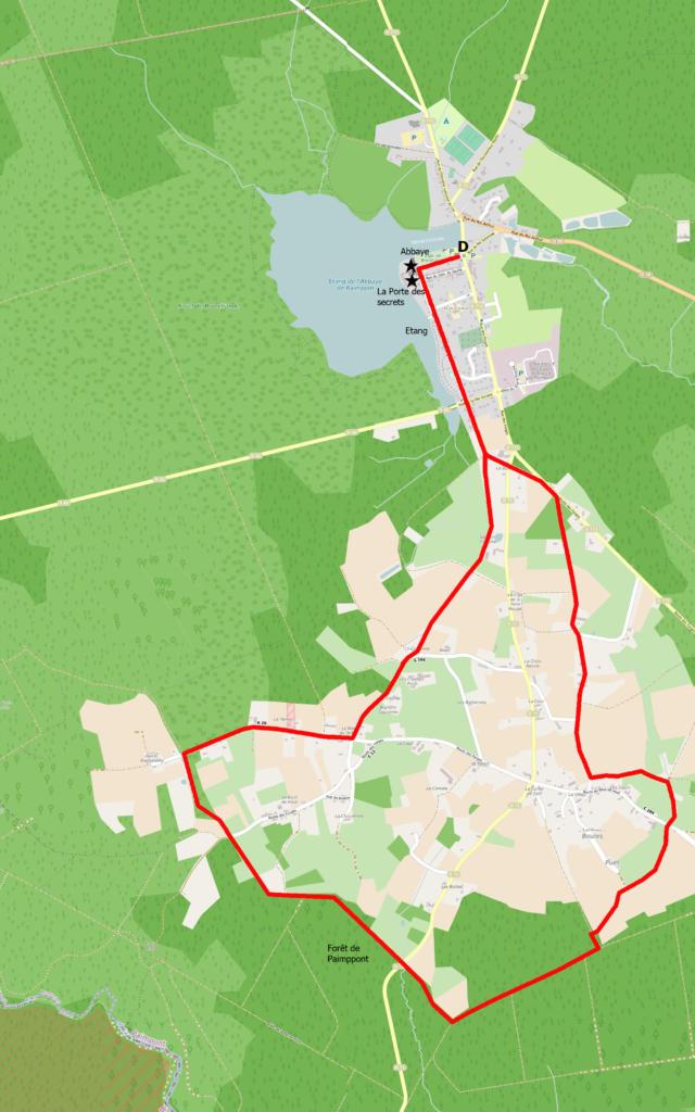 Carte Circuit Du Cannée Paimpont