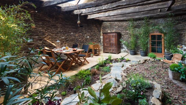 Gite Jardin Intérieur - Saint Congard - jardin intérieur
