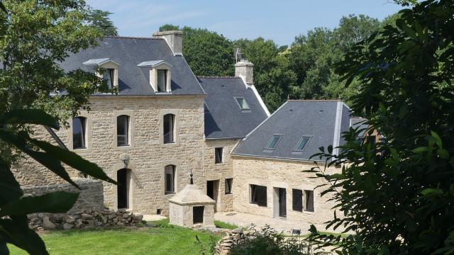 Chambre d'hôtes - Domaine De Tréouzien - Plouhinec - espace bien-être- vue extérieure