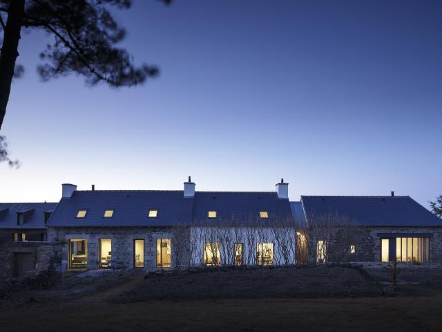 Maisons Arin de nuit - Paimpol