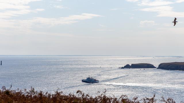 Entrée du port de l'île d'Ouessant