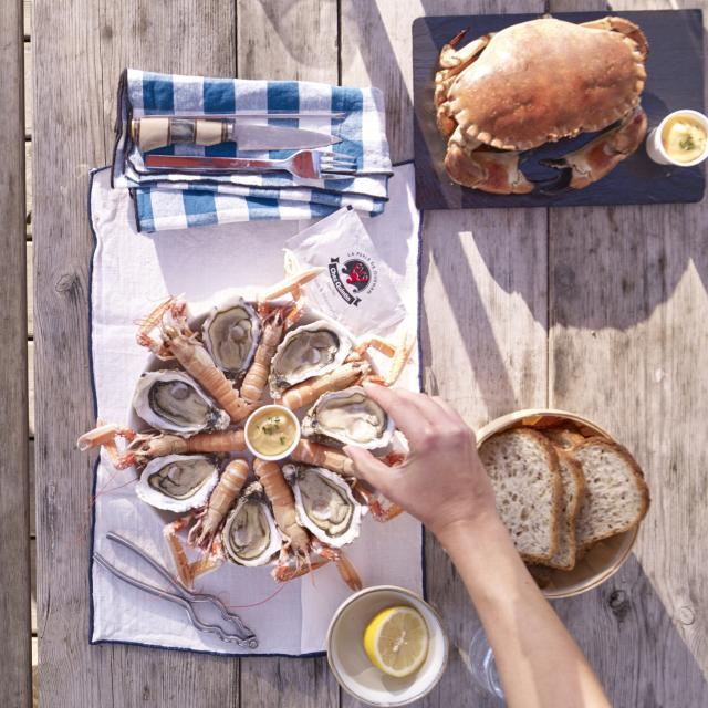 Assiette de fruits de mer La Perle de Quéhan à Saint-Philibert