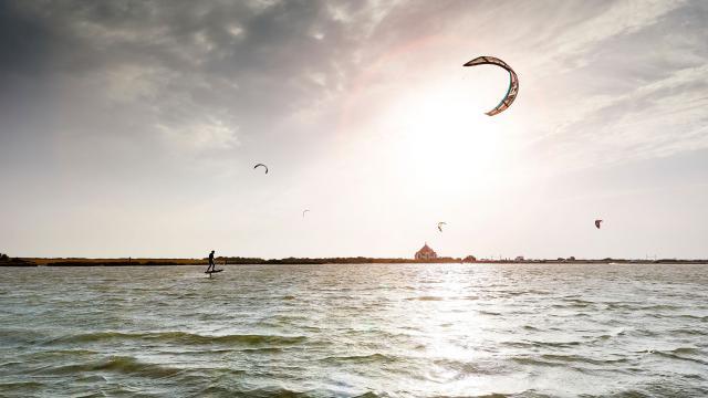 Kite-surf à la Pointe de Penvins - Presqu'île de Rhuys (56)