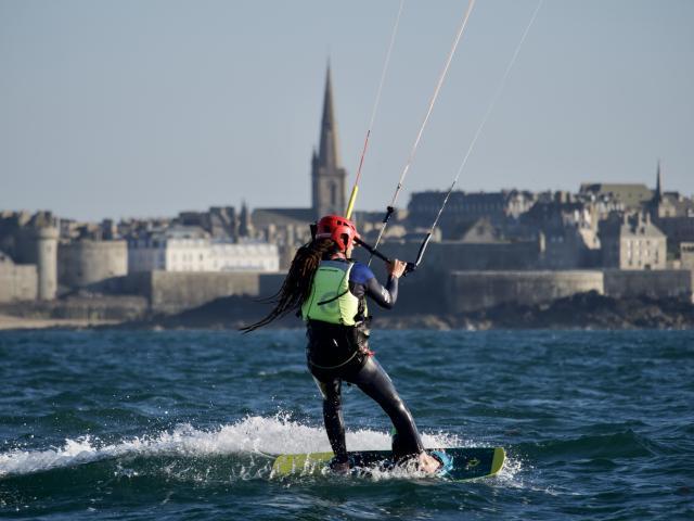 Kite-surf - Plage du Sillon - Saint-Malo