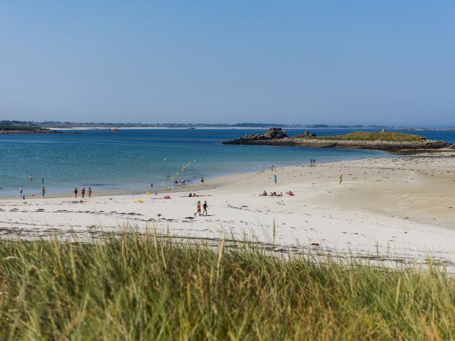 Les dunes et la plage de Sainte-Marguerite à Landéda