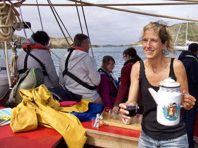 Voilier Saint Guirec - Les 7 îles - pause café