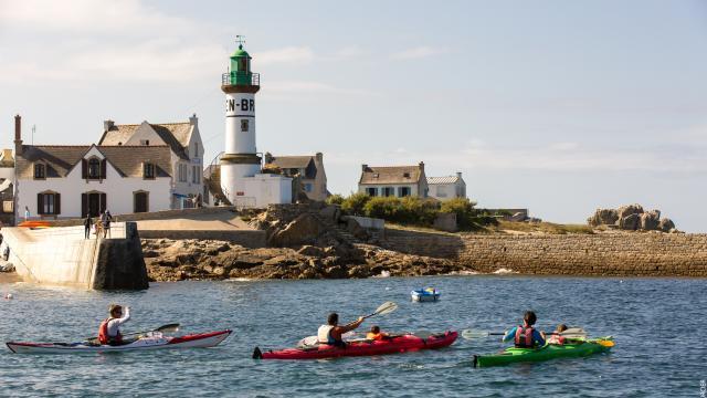 Kayak en famille - Ile de Sein