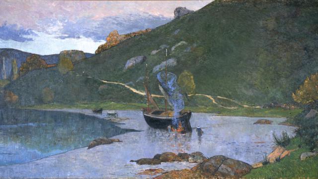 Maxime Maufra - Vue du port de Pont-Aven, 1893-94