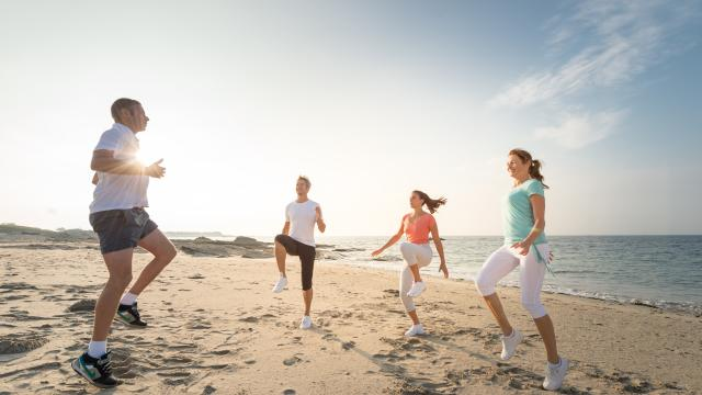 Presqu'île de Quiberon - séance de coaching sur la plage