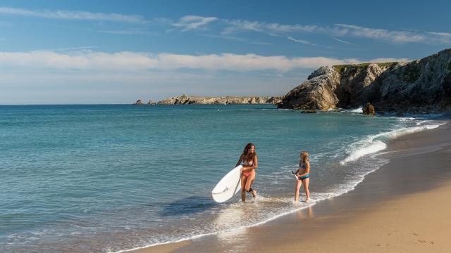 Presqu'île de Quiberon - plage - stand up paddle