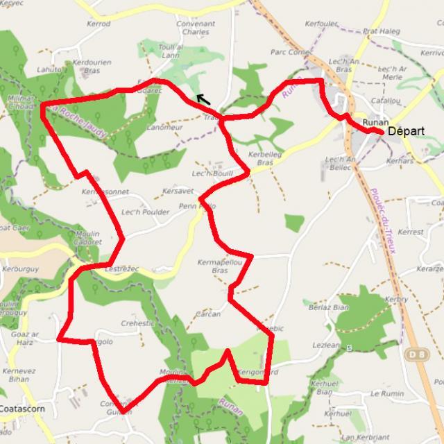 Circuit Tro Runargan 12 Km