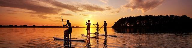 Arzon - Paddle au coucher du soleil