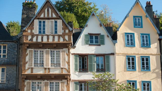 Les maisons à Pondalez de Morlaix